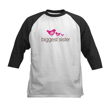 biggest sister t-shirts birdie Kids Baseball Jerse