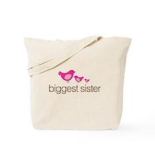 biggest sister t-shirts birdie Tote Bag