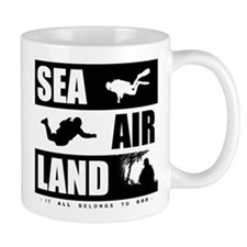 'God's Sea Air Land' Mug
