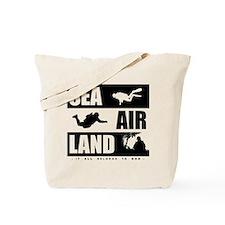 'God's Sea Air Land' Tote Bag