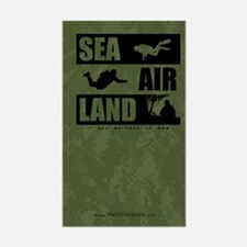 'God's Sea Air Land' Rectangle Decal