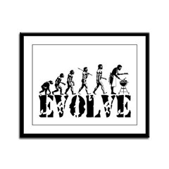 BBQ Barbeque Grill Framed Panel Print