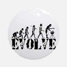 BBQ Barbeque Grill Ornament (Round)