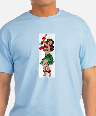 Hawaiian Hula Dancer Tattoo T-Shirt