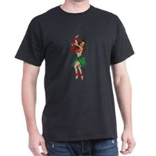 Hawaiian Hula Dancer Tattoo (Front) T-Shirt