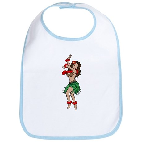 Hawaiian Hula Dancer Tattoo Bib