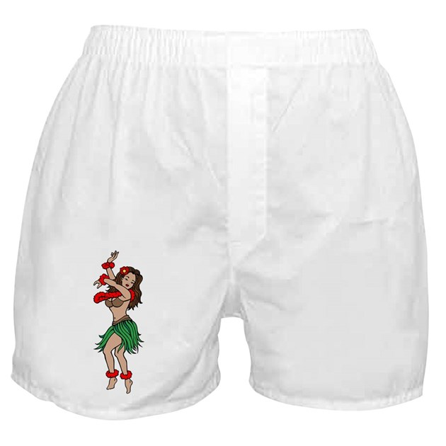 hawaiian hula dancer tattoo boxer shorts by tattooartshirts. Black Bedroom Furniture Sets. Home Design Ideas