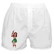 Hawaiian Hula Dancer Tattoo Boxer Shorts