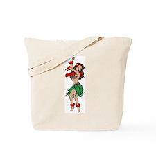 Hawaiian Hula Dancer Tattoo Tote Bag