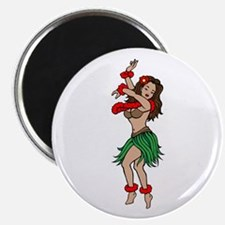 "Hawaiian Hula Dancer Tattoo 2.25"" Magnet (10 pack)"