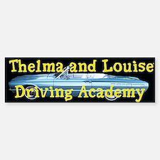 Thelma and Louise Bumper Car Car Sticker