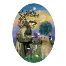 Saint Francis & Wheaten Terrier Keepsake (Oval)