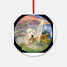 Cloud Angel Wheaten Terrier Keepsake (Round)