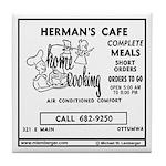 Herman's Cafe Tile Coaster