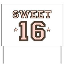 Sweet 16 Yard Sign