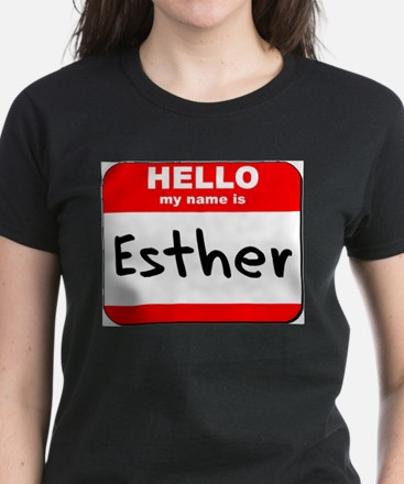 Hello my name is Esther Women's Dark T-Shirt
