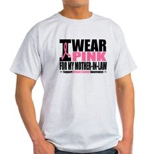 I Wear Pink Mother-in-Law T-Shirt