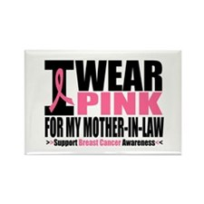 I Wear Pink Mother-in-Law Rectangle Magnet