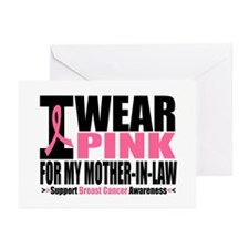 I Wear Pink Mother-in-Law Greeting Cards (Pk of 10