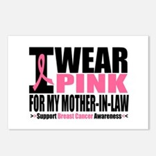 I Wear Pink Mother-in-Law Postcards (Package of 8)