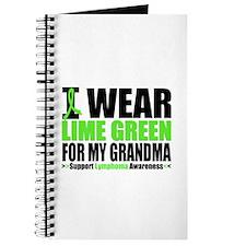 I Wear Lime Green Grandma Journal