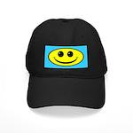 Smiley Face Oval Black Cap