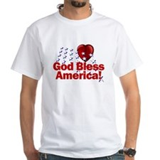 God Bless America White T-Shirt