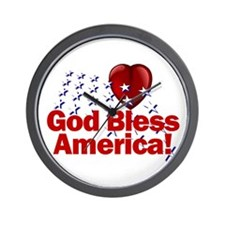 God Bless America Wall Clock