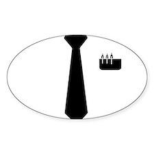Geek Tie Oval Decal