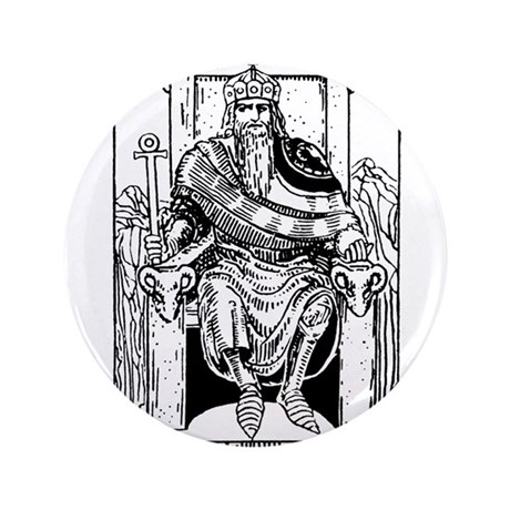 "The Emperor Tarot Card 3.5"" Button (100 pack)"