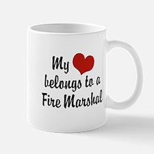 My Heart Belongs to a Fire marshal Mug