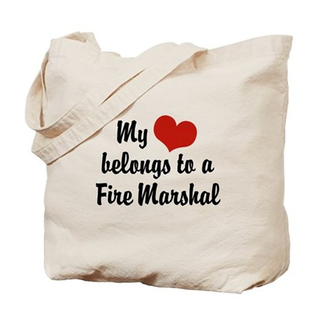 My Heart Belongs to a Fire marshal Tote Bag