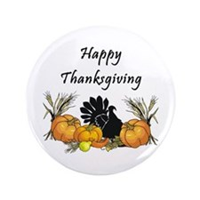 "Happy Thanksgiving 3.5"" Button (100 pack)"