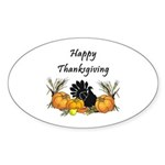 Happy Thanksgiving Sticker (Oval 10 pk)