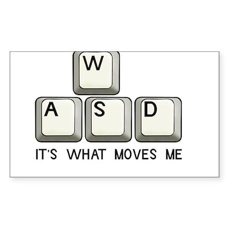 WASD Rectangle Sticker 50 pk)