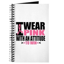 I Wear Pink Attitude To Win Journal