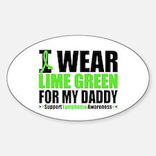 IWearLimeGreen Daddy Oval Sticker (10 pk)