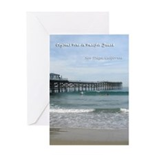 Crystal Pier in Pacific Beach Greeting Card
