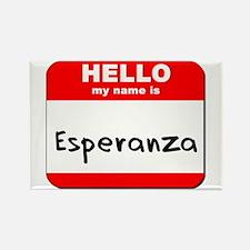 Hello my name is Esperanza Rectangle Magnet