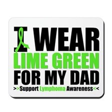 I Wear Lime Green Dad Mousepad