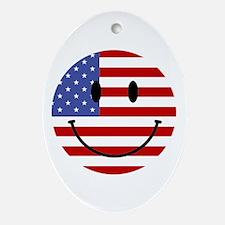 God Bless America Oval Ornament