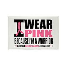 I Wear Pink Warrior Rectangle Magnet