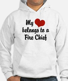 My Heart Belongs to a Fire Chief Hoodie