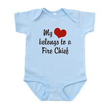 My Heart Belongs to a Fire Chief Infant Bodysuit