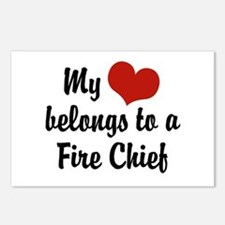 My Heart Belongs to a Fire Chief Postcards (Packag