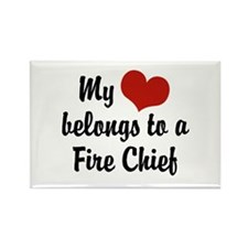 My Heart Belongs to a Fire Chief Rectangle Magnet