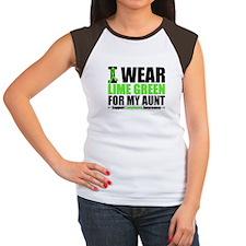 I Wear Lime Green Aunt Women's Cap Sleeve T-Shirt