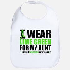 I Wear Lime Green Aunt Bib
