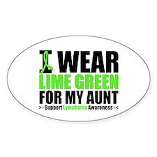 I Wear Lime Green Aunt Oval Sticker (10 pk)