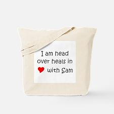 Cute I heart sam Tote Bag